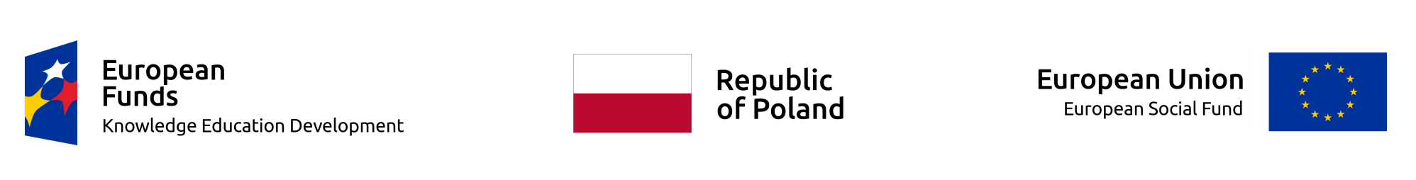 Logo European Funds - Republic of Poland - European Union